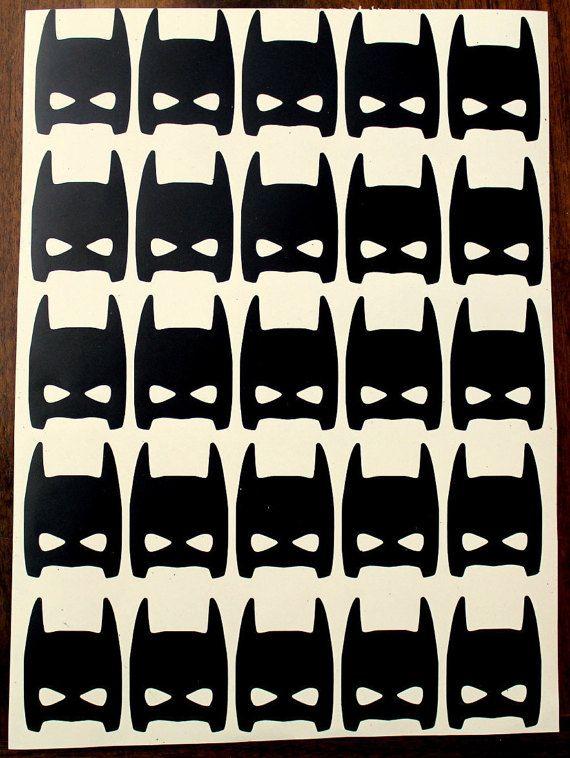 70 Batman Mask Batman Vinyl Decal Sticker Batman Wall Decal