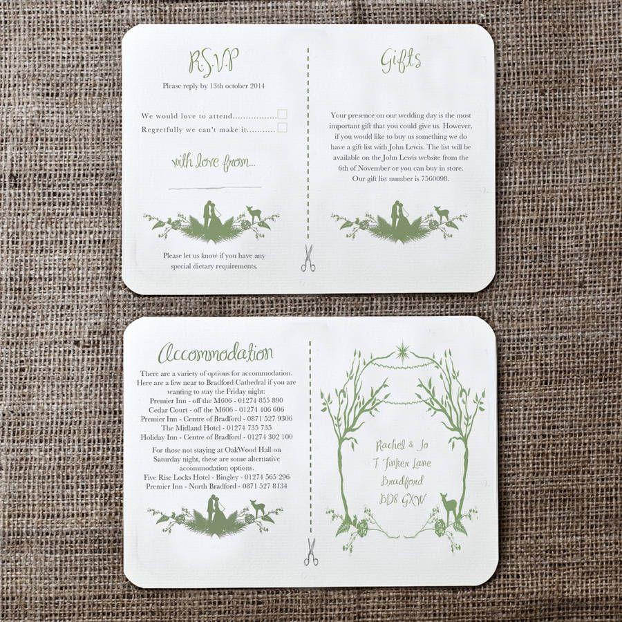 original_forest-theme-wedding-invitation.jpg (900×900) | Let\'s have ...
