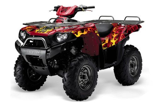 AMR Racing Kawasaki Brute force 650i 4x4 ATV Quad, Graphic Kit - Motorhead: Red AMR Racing graphic kits are custom made to your specs, and take up to 5 business days to create. All graphics are digitally printed with UV resistant inks that are guaranteed not to fade up to 5 years.. Genuine 3M brand adhesive assures your graphics won't be peeling off unless you want them to.. All of our designs are... #AMR_Racing #Automotive_Parts_and_Accessories