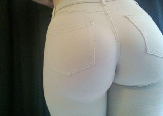 Hvit Stor Booty Amatørporno