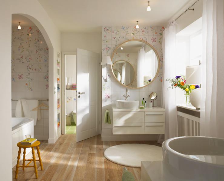 Badezimmer Muster ~ Einrichten mit blumenmustern contemporary style modern