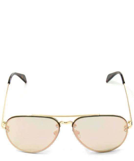 63e32dee42b6 Celine Gold Metal Aviator Sunglasses