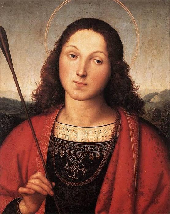 San Sebastián  Fecha: 1502-1503  Movimiento: Renacimiento  Técnica: Óleo sobre tabla  Museo: Accademia Carrara  Localización: Bergamo, Italia