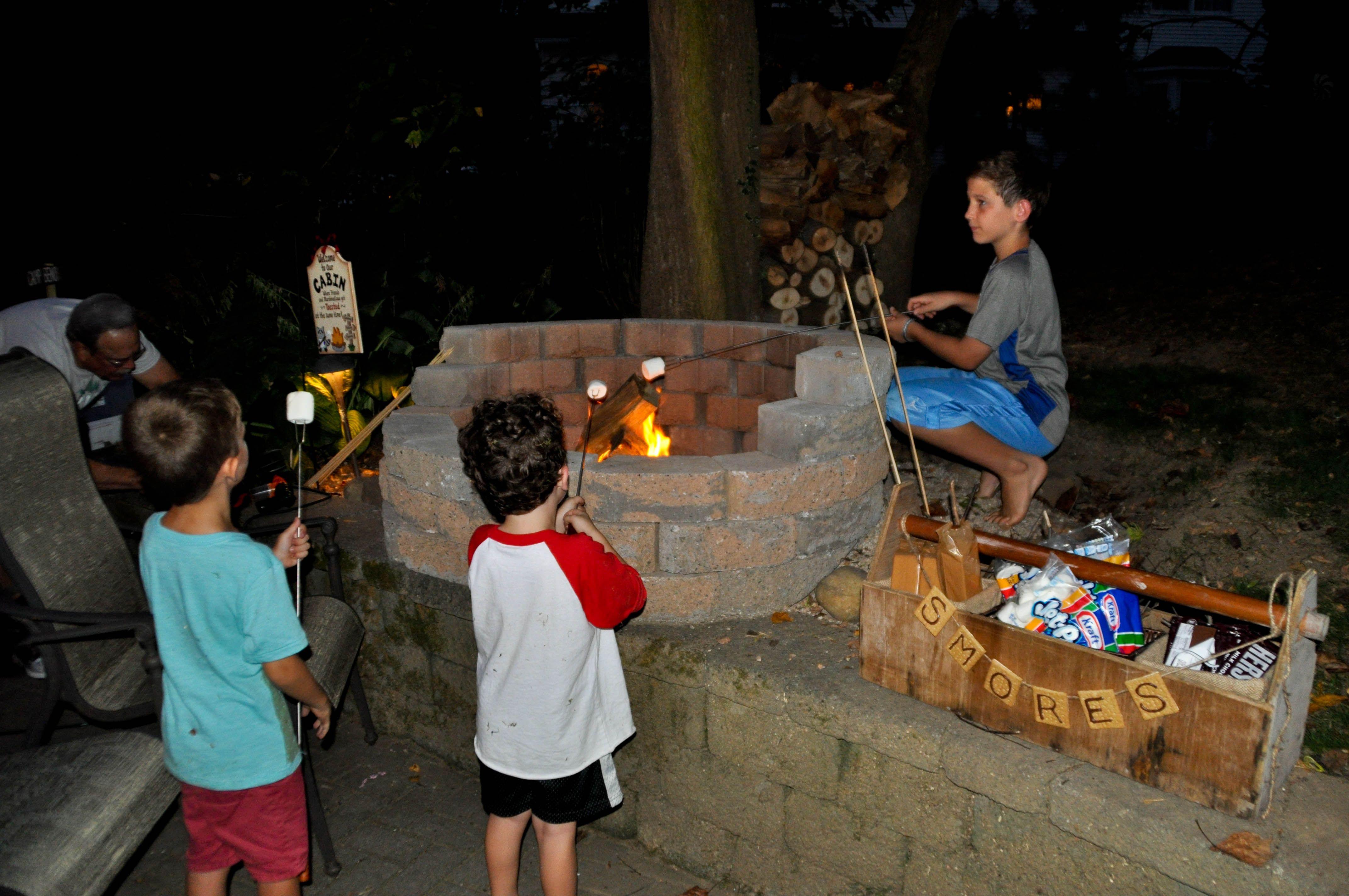 Backyard Camping Party Activity Campfire Smores Game