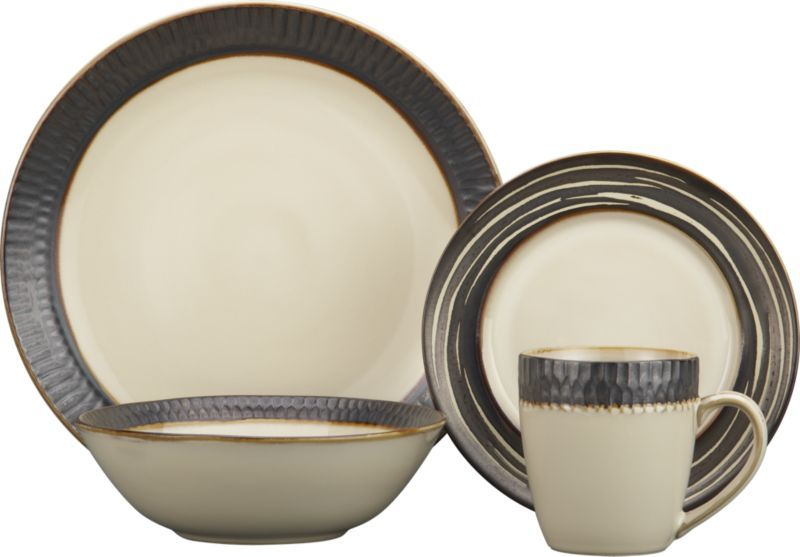 Scavo Dinnerware with Swirl Salad Plate in Dinnerware Sets | Crate and Barrel