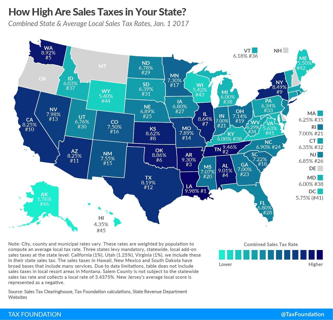 Pin By Lynn A On Ap Statistics Tax Rate Tax Free States