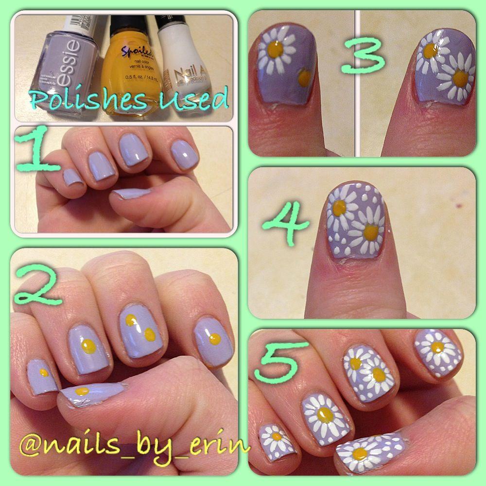 Daisy Nail Art Tutorial Nails Pinterest Daisy Nail Art Daisy