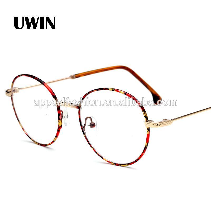 735a9e6b09e Vintage Round Eye Glasses Frame Men Women Brand Designer Reading Metal  Circle Frame Optical Eyeglasses Male Cheap Eyewear