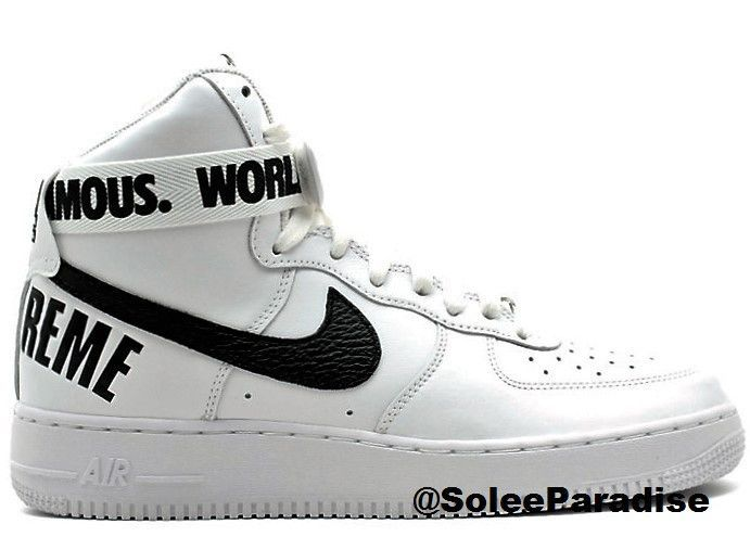 nouveau produit e36df 9f51d Air Force One Supreme White in 2019 | Shoes | Nike air force ...