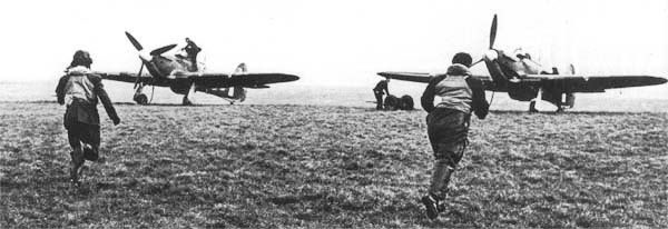 No 303 Squadron RAF was scrambled for the first time from RAF
