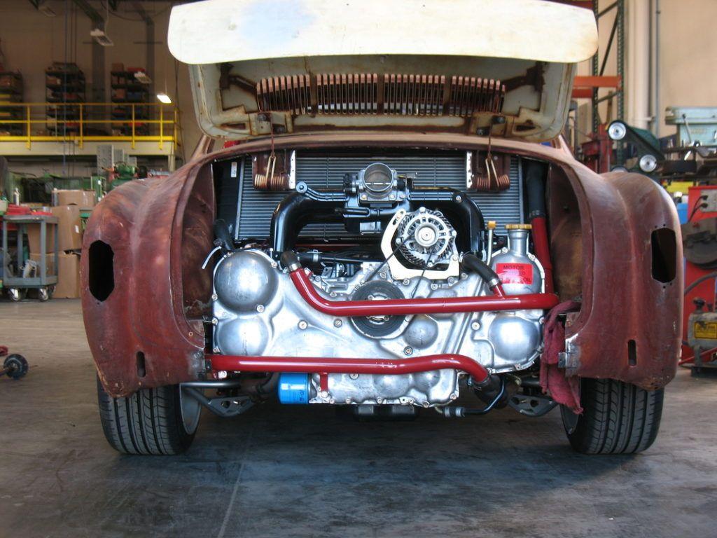 Building A Karmann Ghia With A Subaru Flat Six Engine Swap Depot Karmann Ghia Vw Conversions Subaru