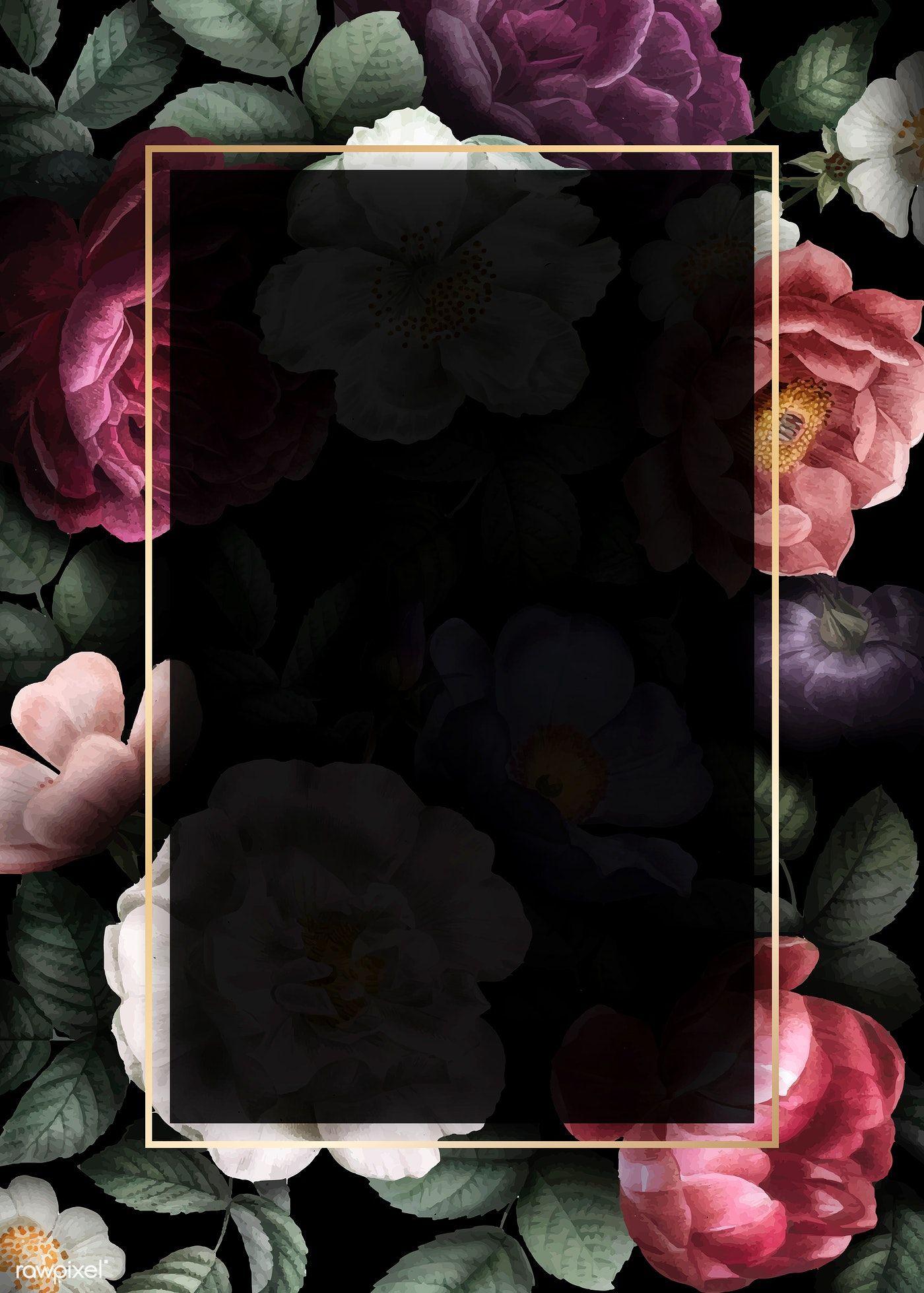 Download Premium Vector Of Blank Floral Invitation Card Vector