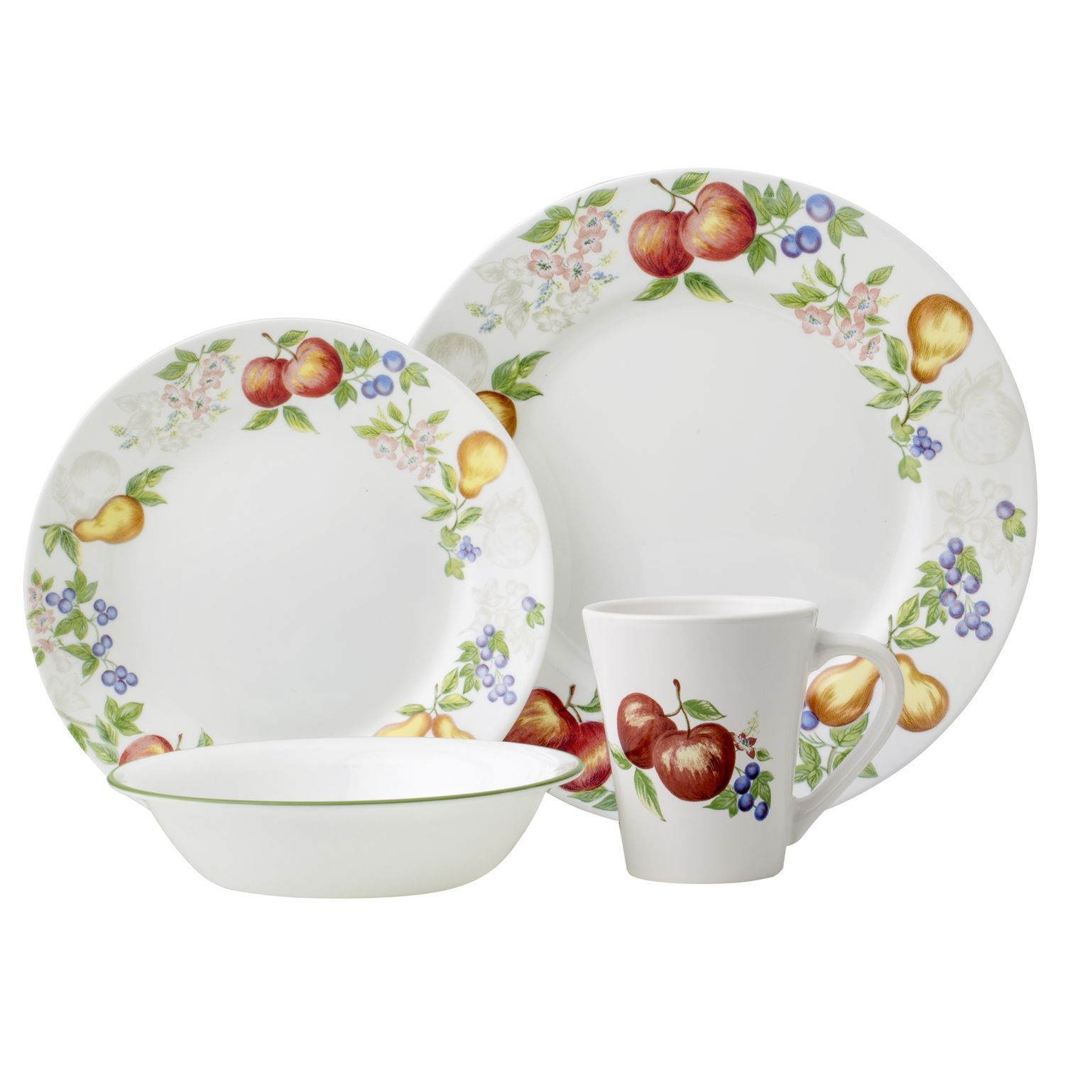 dining dishes set kitchen opalware cottages glass product large home corelle vitrelle pc country cid dinner cottage