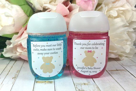 Teddy Bear Baby Shower Favor Labels Boy Baby Shower Hand