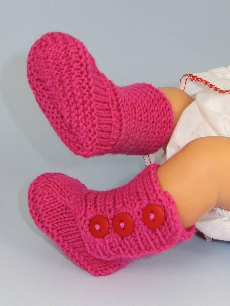 Düğmeli Bebek Botu Patik Yapımı El Örgüsü