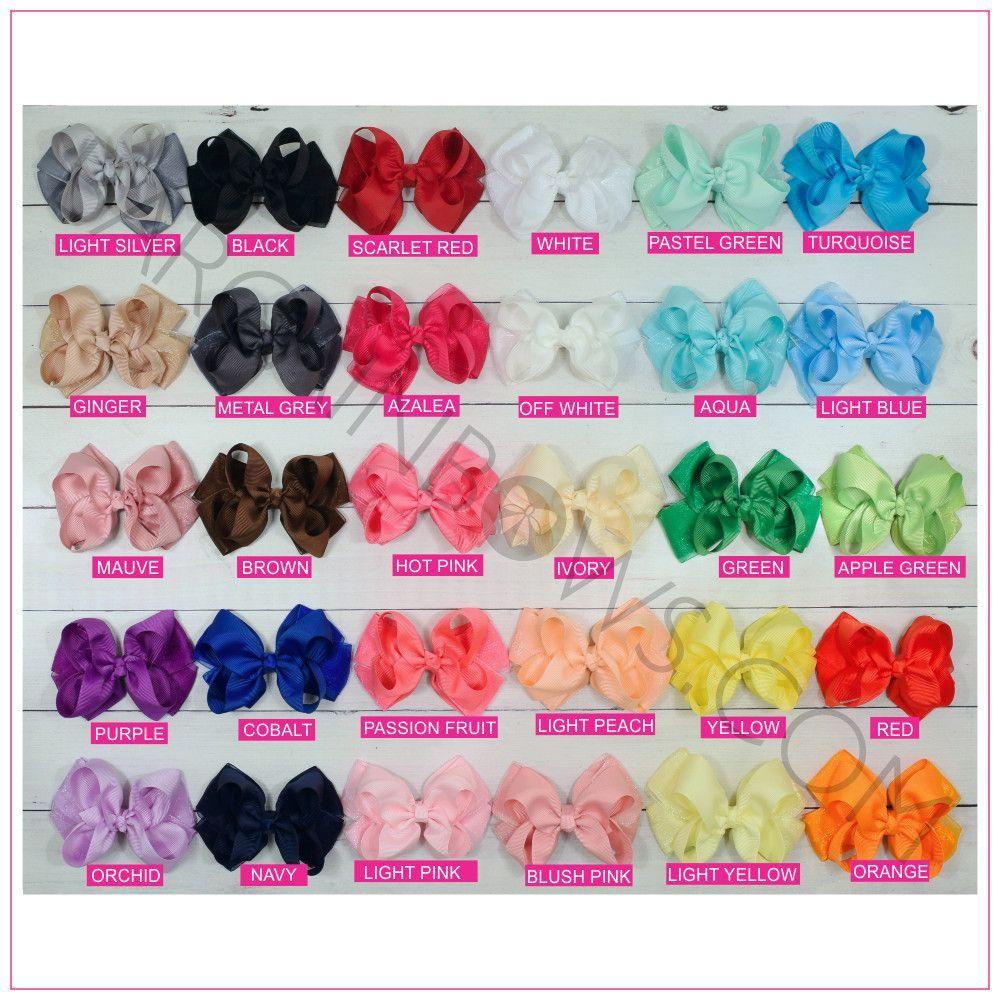 Organza 4 inch hair bow bundle