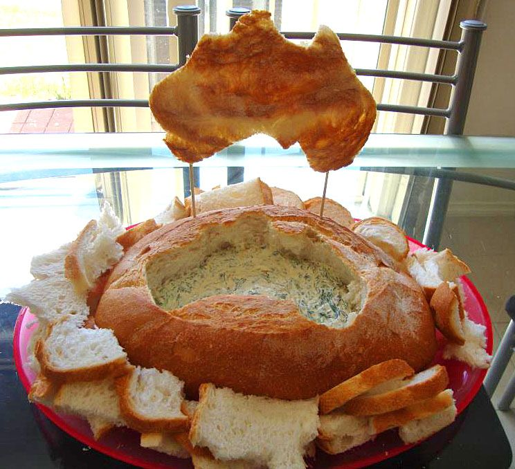 Food Ideas Australia Day Spinach Damper Dip Party