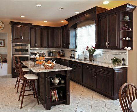 The Perfect Transitional Kitchen Design in Chocolate Pear in 2018