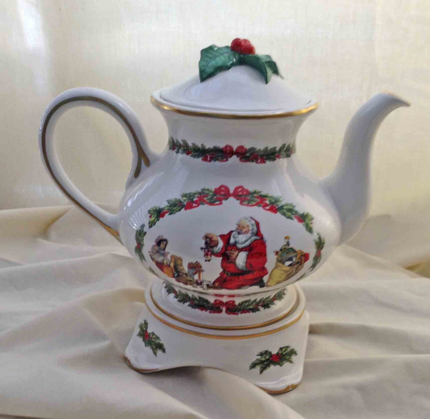 Holiday Teapot, The Night Before Christmas, Franklin Mint, 3 Pc ...