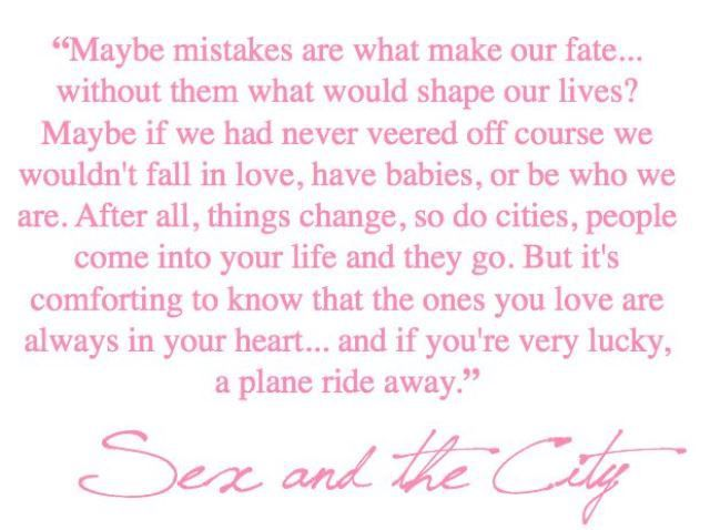 Sex and the city quotes plane