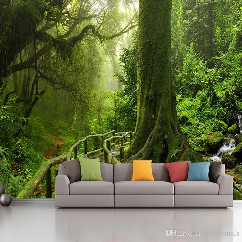 Custom 3d Elephant Wall Mural Personalized Giant Photo Wallpaper