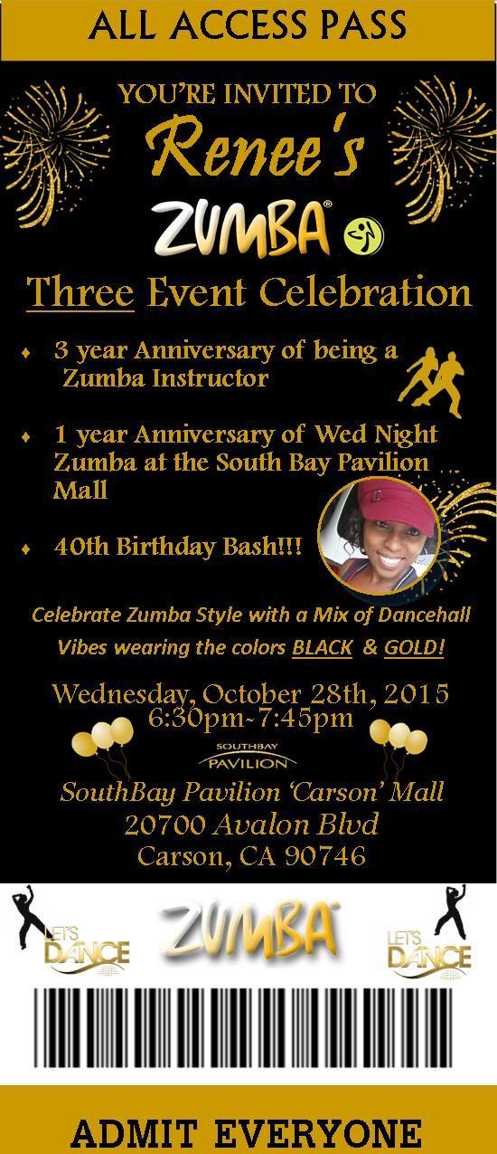 Zumba Anniversary Invitation Zu Zu Zuuuummmbbbbaaaa