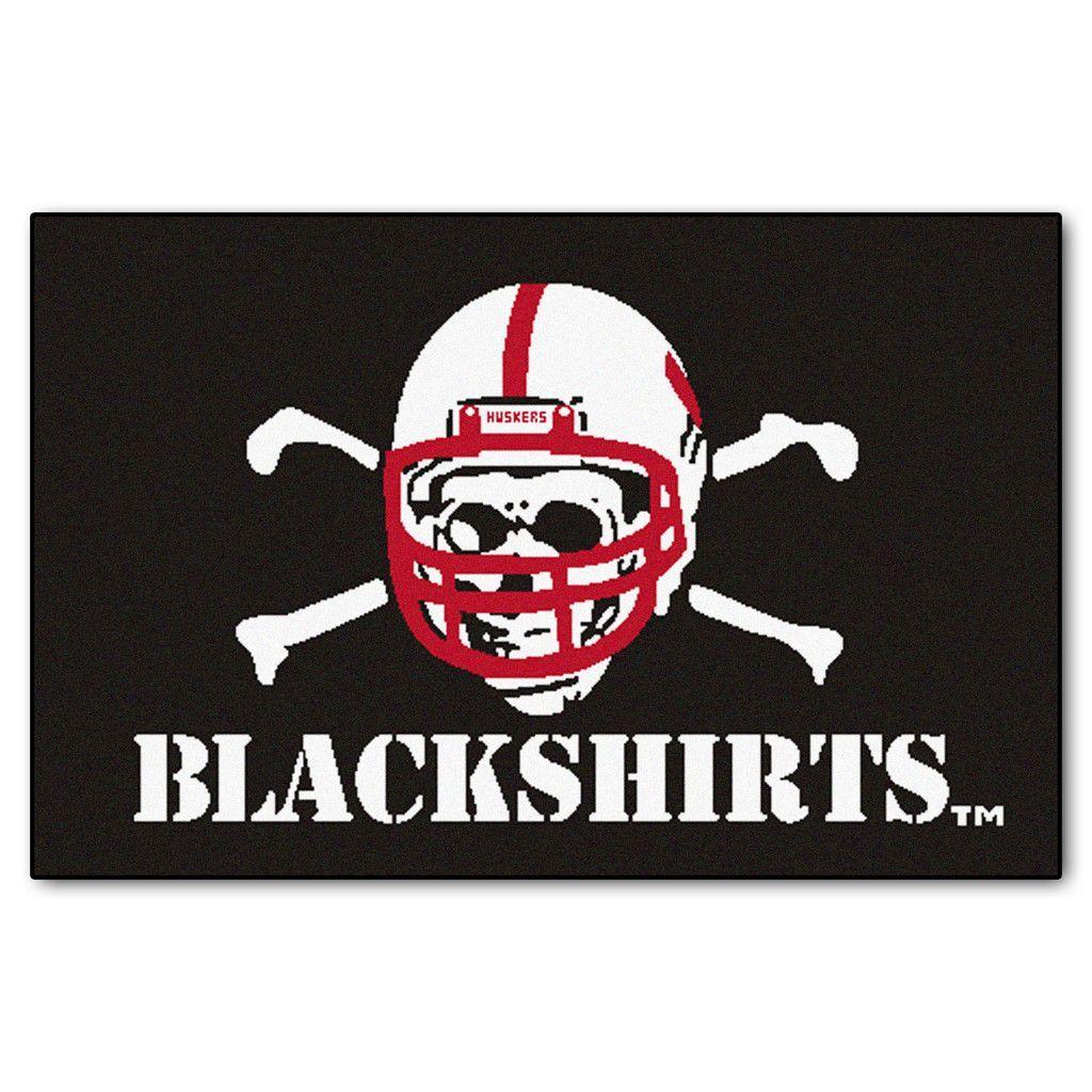 Nebraska Cornhuskers Team Logo Accent Rug Blackshirts