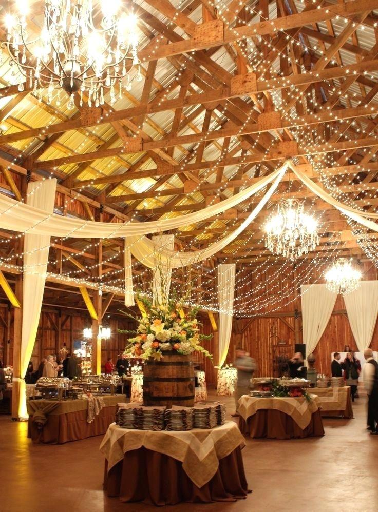 Inside wedding decoration ideas romantic indoor barn decor with inside wedding decoration ideas romantic indoor barn decor with lights country diy junglespirit Gallery