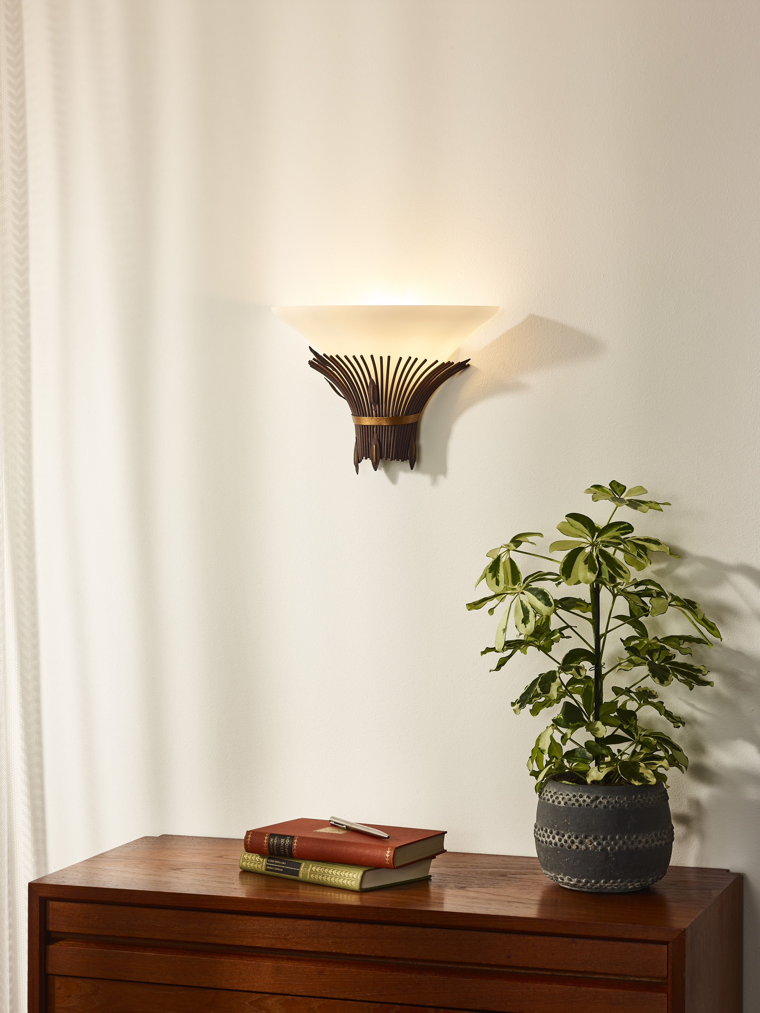 Lucide Canna Applique Murale 1xe14 Rouille Verlichting