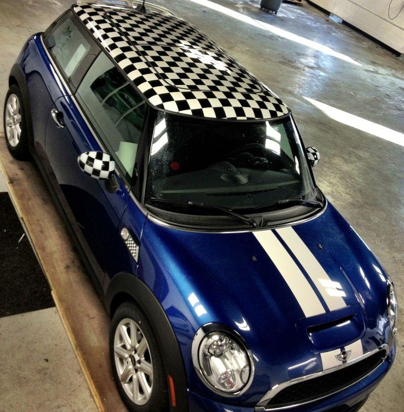 Checkered Roof Wrap Mini Cooper Mini Cars Mini