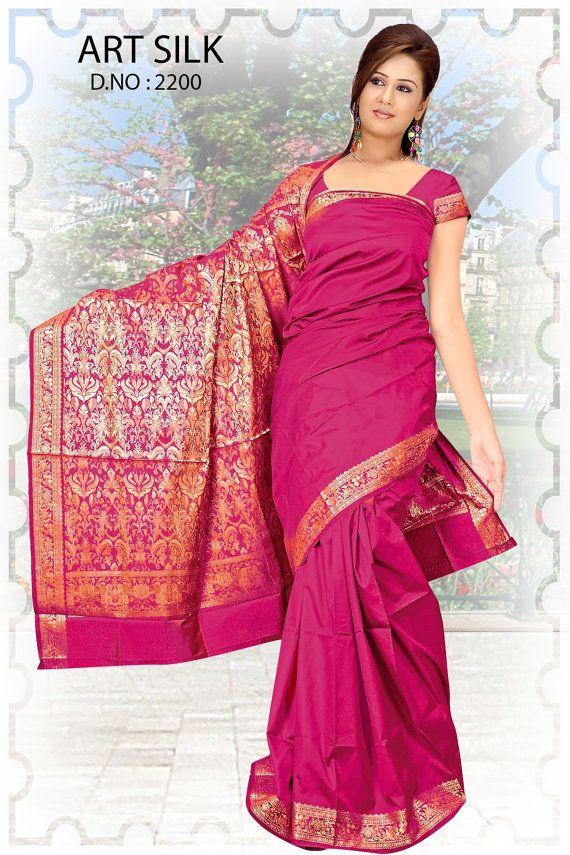 Indian Art Silk Sari Saree DSNA VOL.10 2200 by Lootvila on Etsy, $19.99