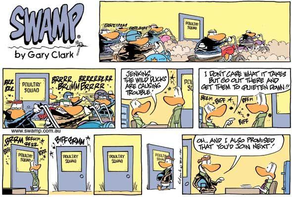 Swamp Cartoons: Noisy Wild Ducks Comic