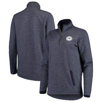 3e9bfa142 Dallas Cowboys Women s Fiona Fleece Quarter-Zip Pullover Jacket - Heathered  Navy