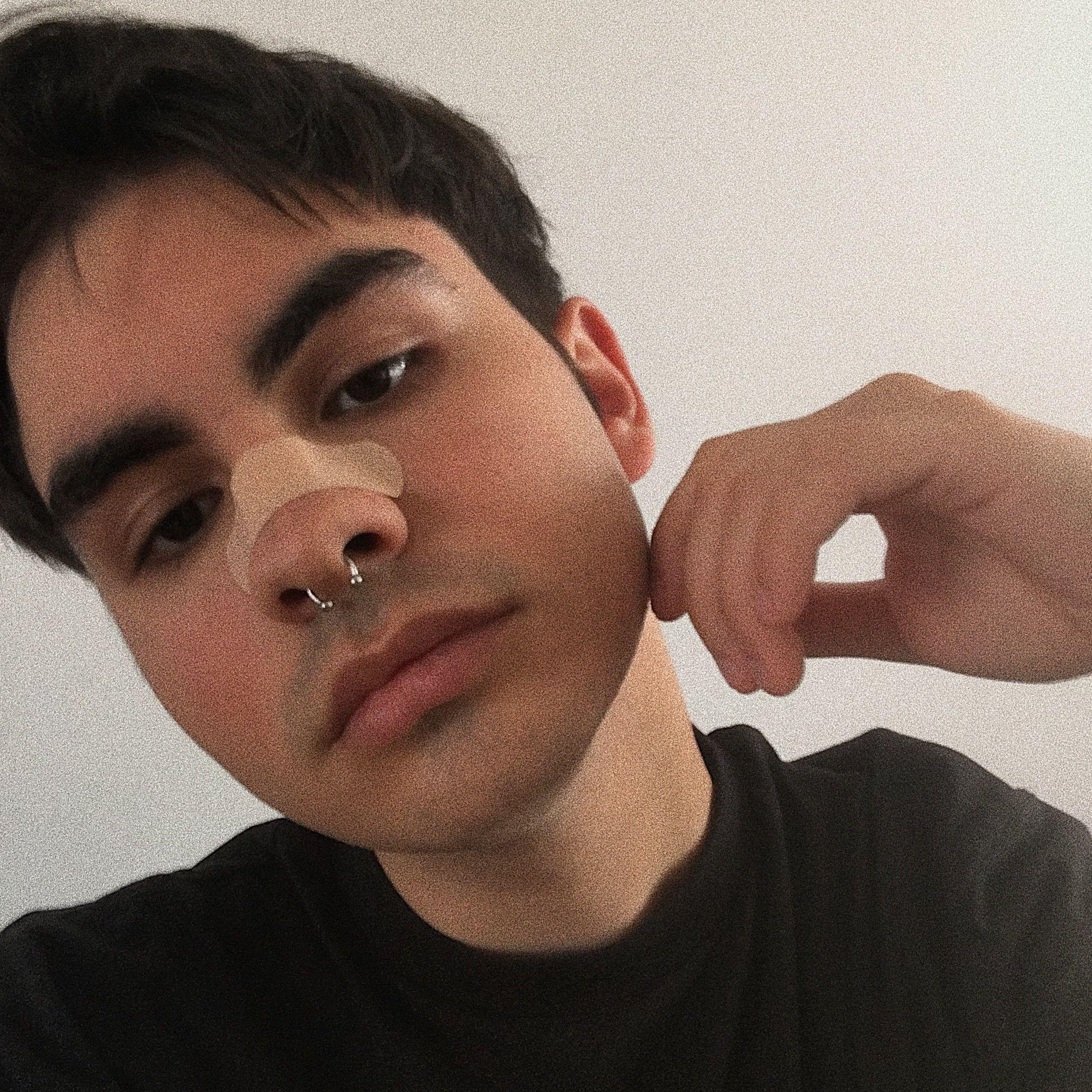 boy with a septum piercing in black #boys #piercing #eboy