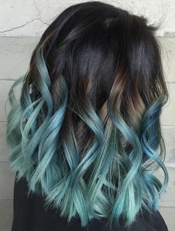 40 Fairy Like Blue Ombre Hairstyles With Images Brown Ombre