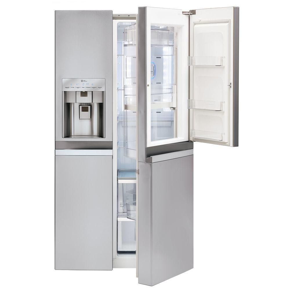 Home depot counter depth refrigerator - Counter Depth Side By Side Refrigerator In Stainless Steel With Door In Door At The Home Depot This Is The One J Likes Ordered From Best Buy Not In