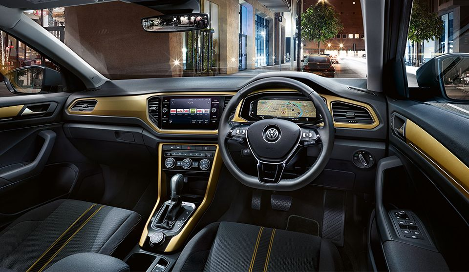 the new vw t roc dashboard comes in four colours so you can design the interior to suit your. Black Bedroom Furniture Sets. Home Design Ideas