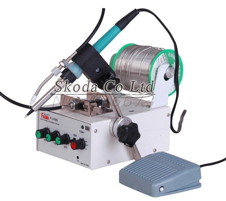 New 60W Multi-function Automatic Thermostatic Tin Feeding Solder Station 220V s