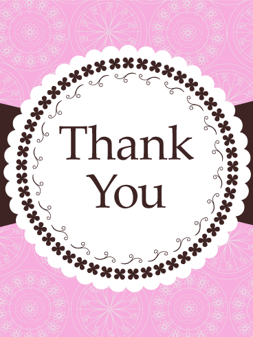 Frilly lace thank you card emotions are delicate things that frilly lace thank you card birthday greeting cards by davia m4hsunfo