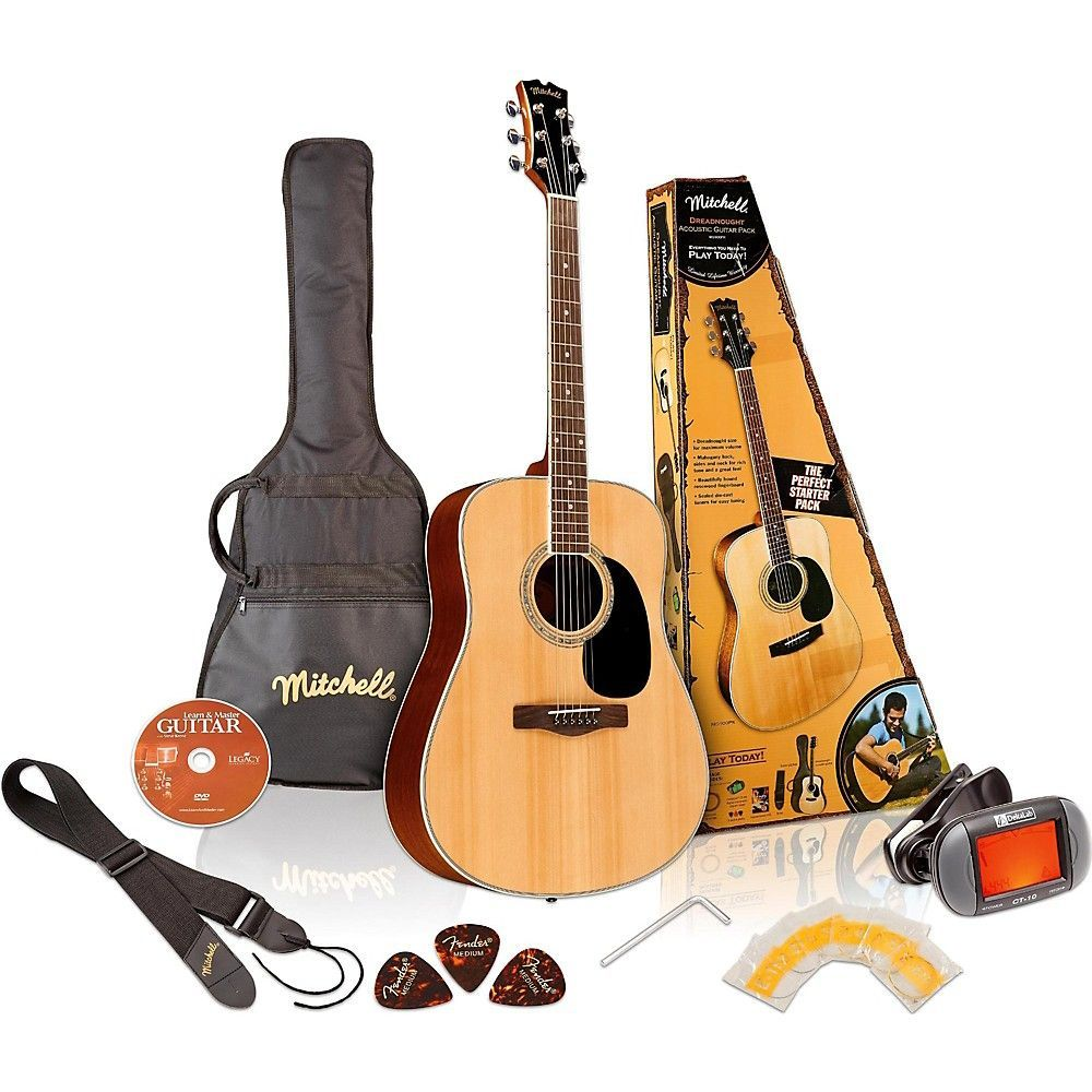 Mitchell D120PK Acoustic Guitar Value Package Acoustic