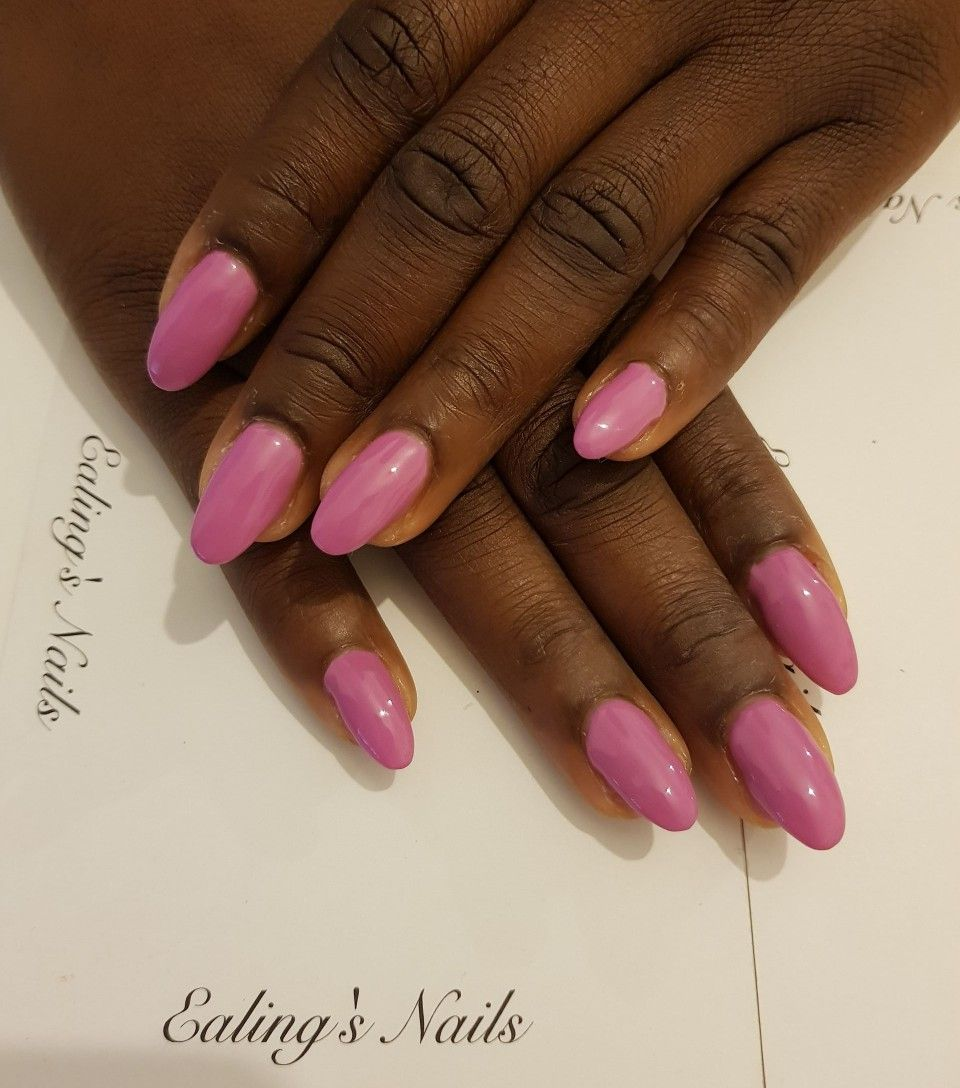 Acrylic infills with pink gel polish | Acrylic Nails | Pinterest ...