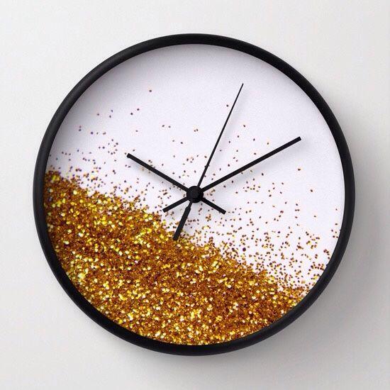 Glittery Glitter Wall Diy Clock Wall Wall Clock Design