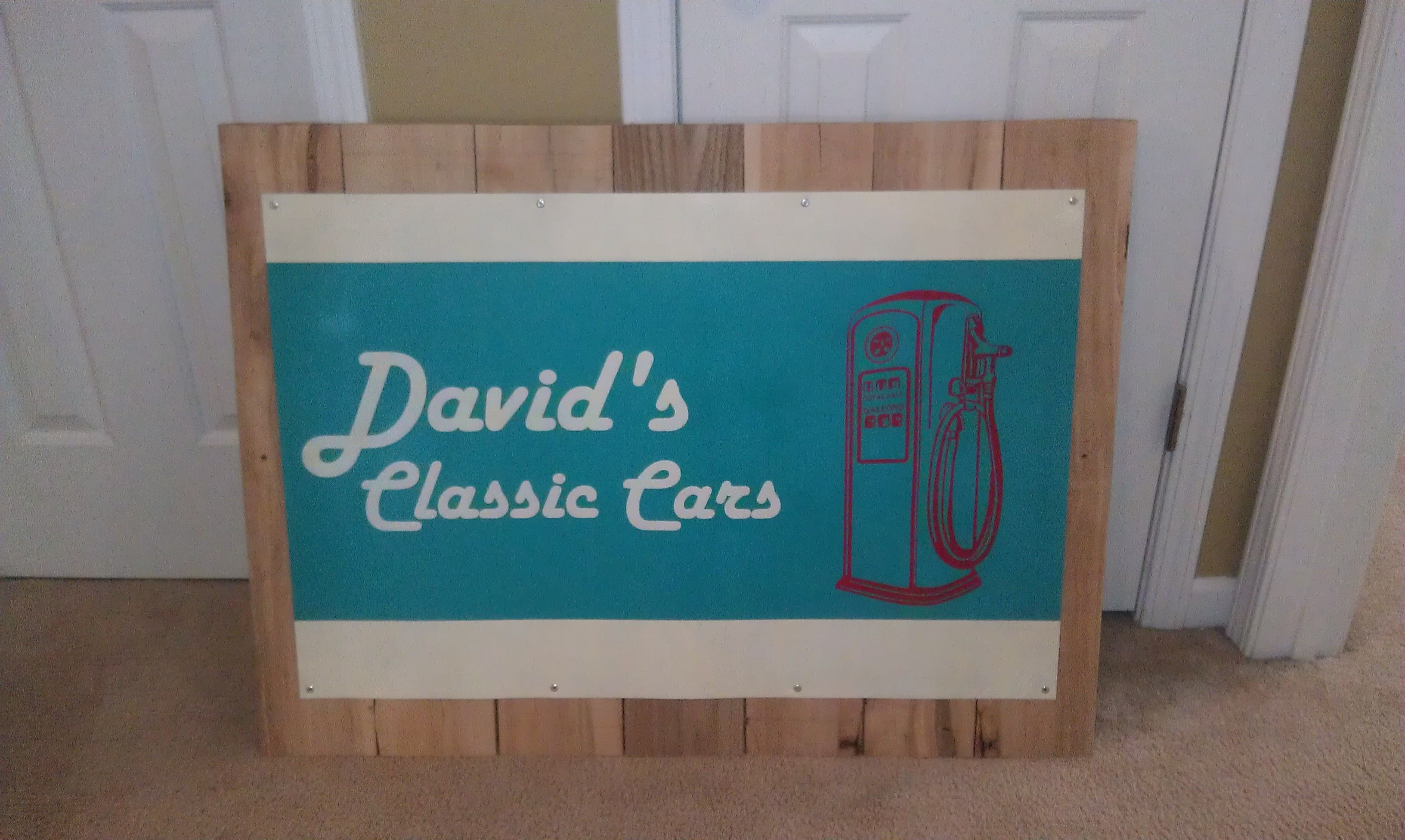 Classic Car Sign. Christmas Present for my Daddy! Pallet wood, sheet ...