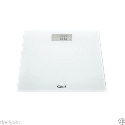 Digital Bathroom Scale Weight Management Tempered Glass 400Lbs Capacity White