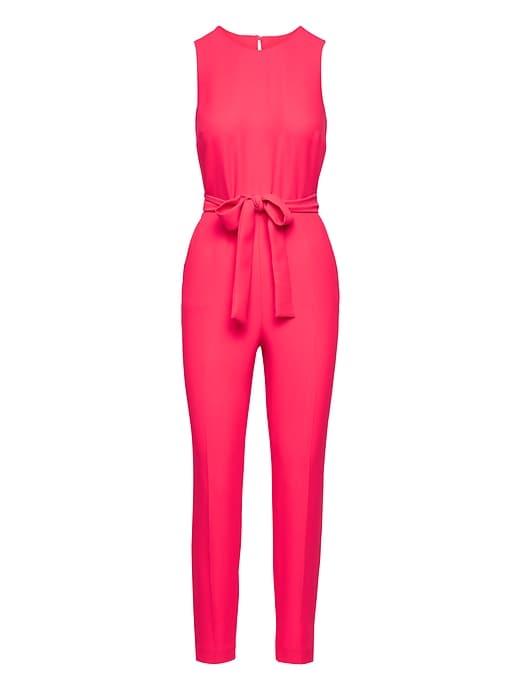 2861cf867c24 Banana Republic Womens Belted Jumpsuit Hot Pink