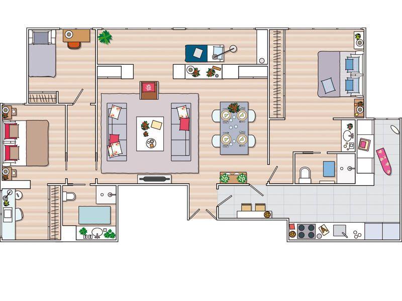 Resultado de imagen de planos de chalets modernos y grandes de dos plantas appartments - Planos de chalets modernos ...