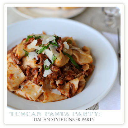 Jenny Steffens Hobick: Recipes | Homemade Pasta | Pappardelle with White Truffles | Tuscan Pasta Dinner Party Menu