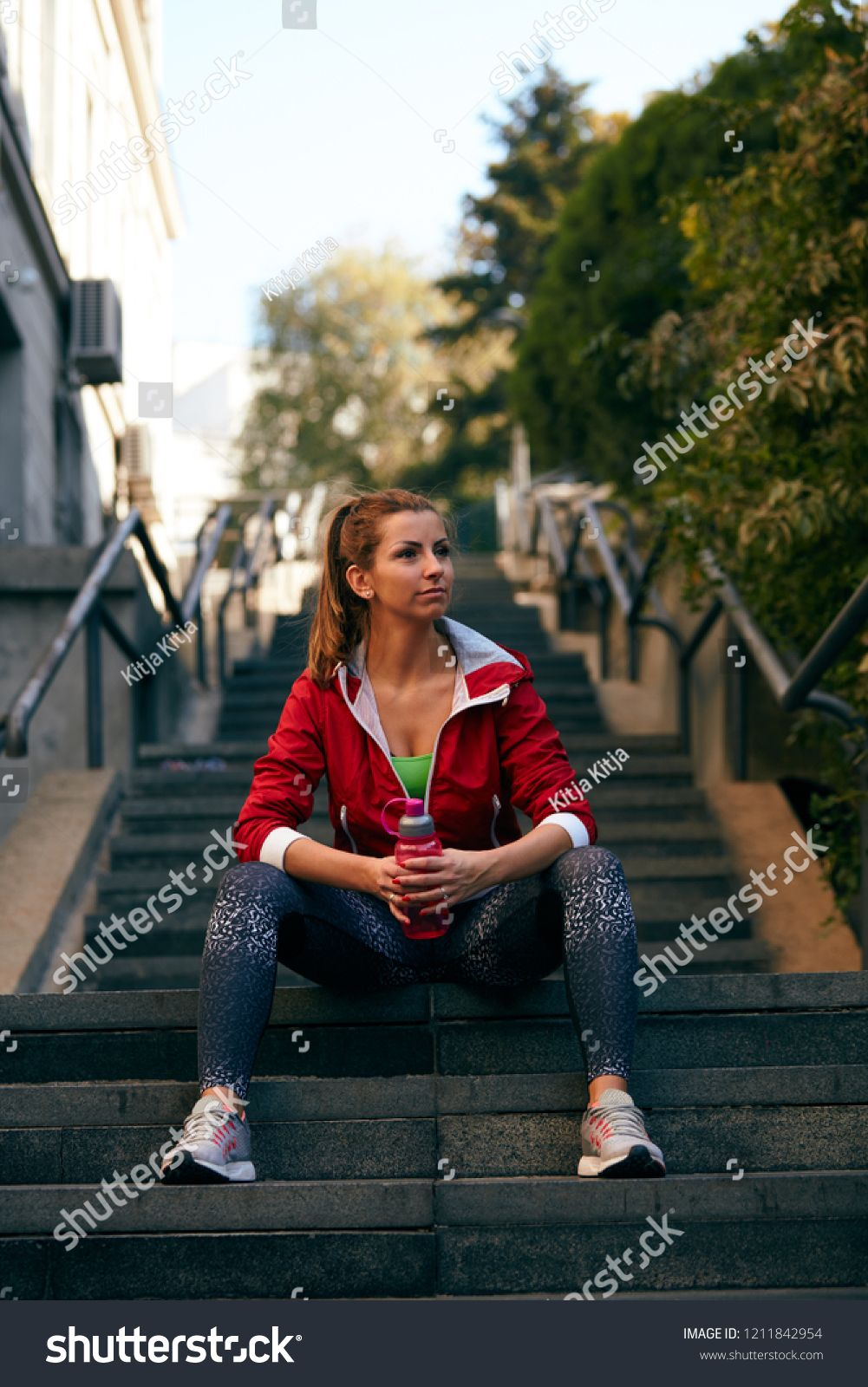 Fitness woman taking a break after workout. #Ad , #Aff, #woman#Fitness#workout#break