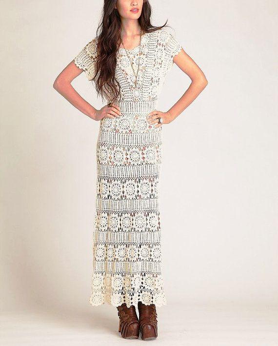 PATTERN- long sexy maxi crochet dress summer beach wedding skirt ...