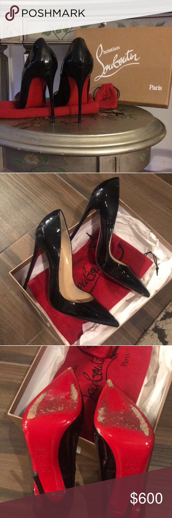6a50aa2c49 Christian Louboutin So Kate Christian Louboutin So Kate 120mm Black Patent  Leather Size 37.5. Beautiful